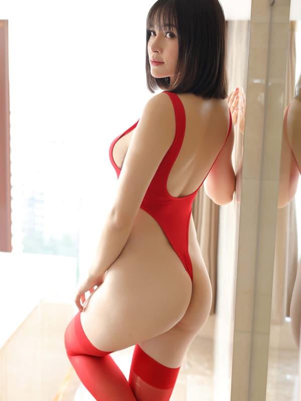 セクシー下着の通販商品:超ハイレグ・レオタード・赤・イメージ写真4