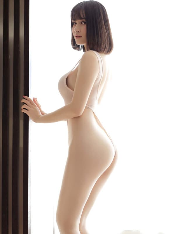 セクシー下着の通販商品:超ハイレグ・レオタード・アプリコット・イメージ写真3