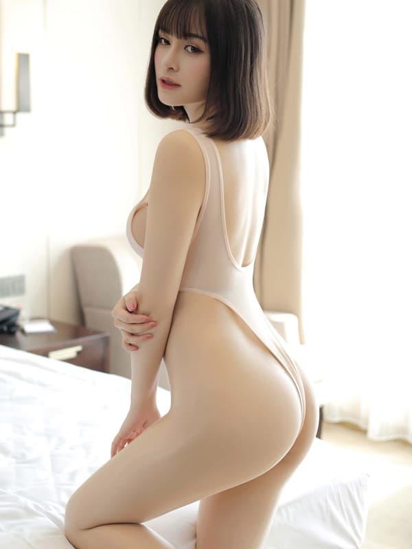 セクシー下着の通販商品:超ハイレグ・レオタード・アプリコット・イメージ写真4