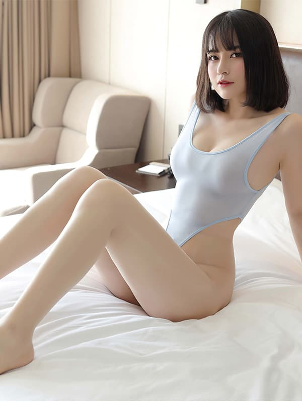 セクシー下着の通販商品:超ハイレグ・レオタード・ブルーグレー・イメージ写真1