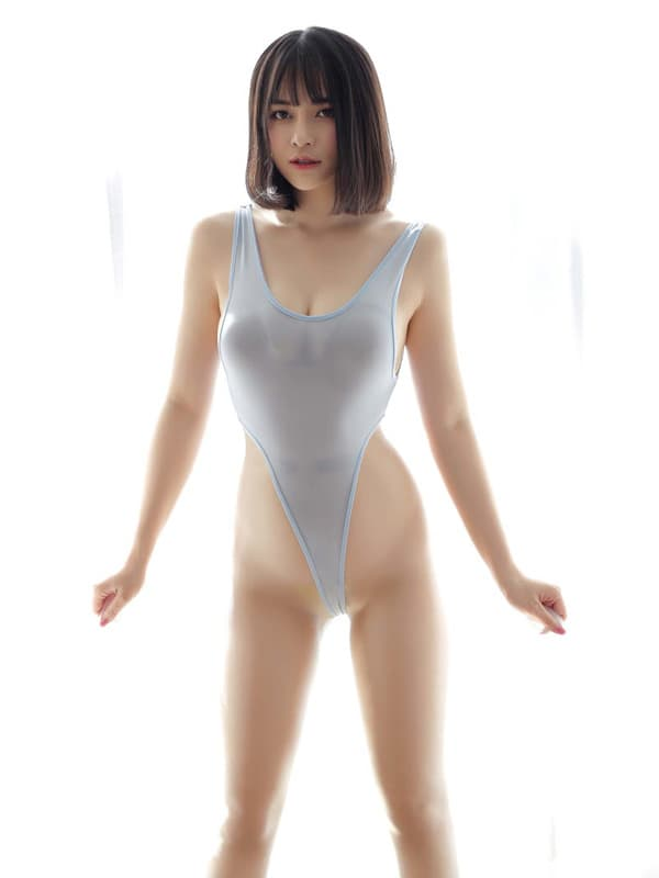 セクシー下着の通販商品:超ハイレグ・レオタード・ブルーグレー・イメージ写真2
