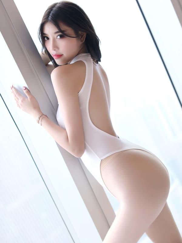 セクシー下着の通販商品:胸がはじける・オープン・ハイレグ・レオタード・白・イメージ写真3