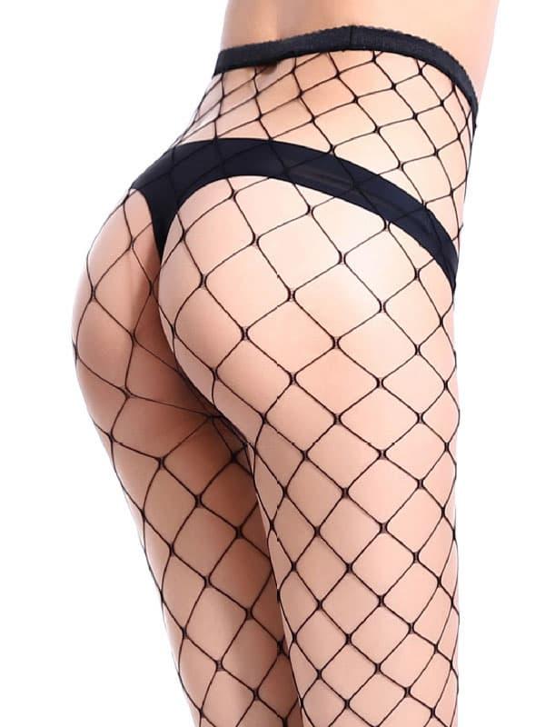 セクシー下着の通販商品:目の大きい・網パンティストッキング・黒・イメージ写真4