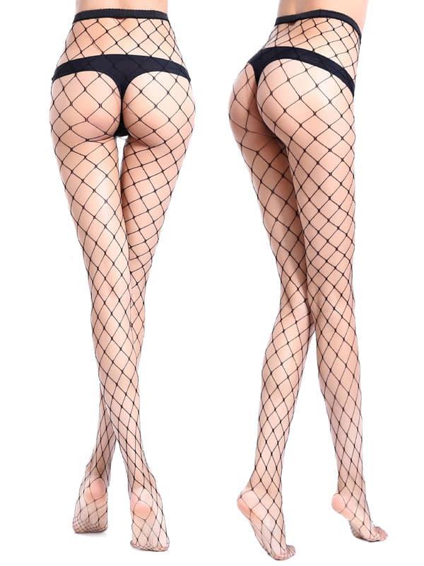 セクシー下着の通販商品:目の大きい・網パンティストッキング・黒・イメージ写真5