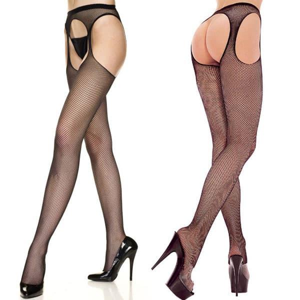 セクシー下着の通販商品:サスペンダー・網パンティストッキング・黒・イメージ写真2