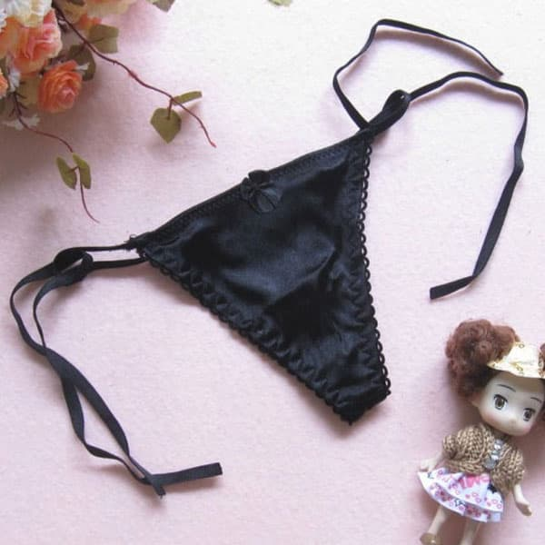 セクシー下着の通販商品:サイド結び・Tバック・黒・イメージ写真5