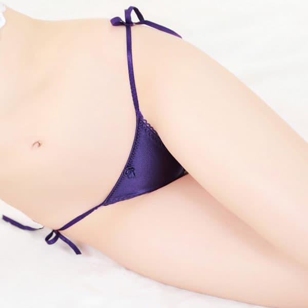 セクシー下着の通販商品:サイド結び・Tバック・紫・イメージ写真3